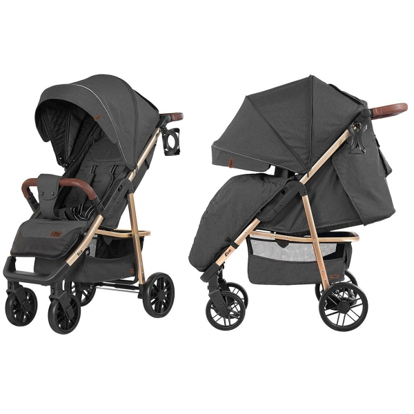 Коляска прогулочная Baby Tilly Eco (Midnight Gray)