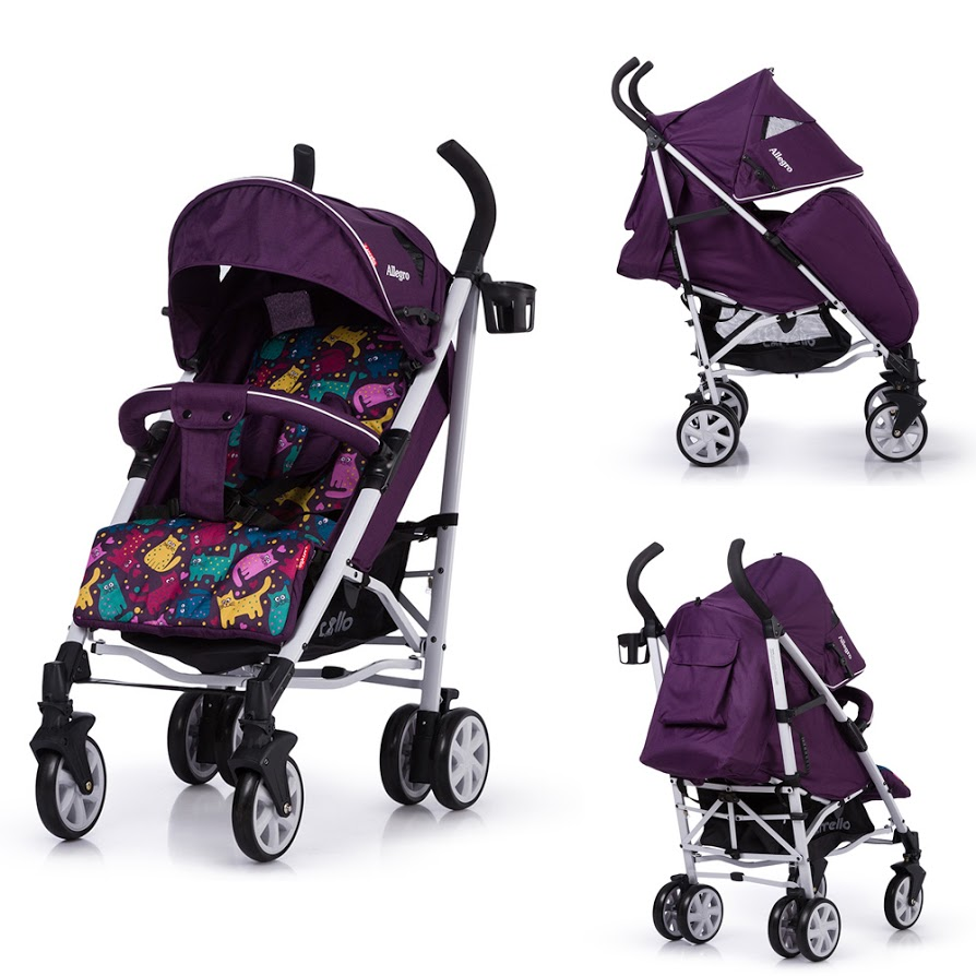 Коляска детская Carrello Allegro (Kitty Purple)