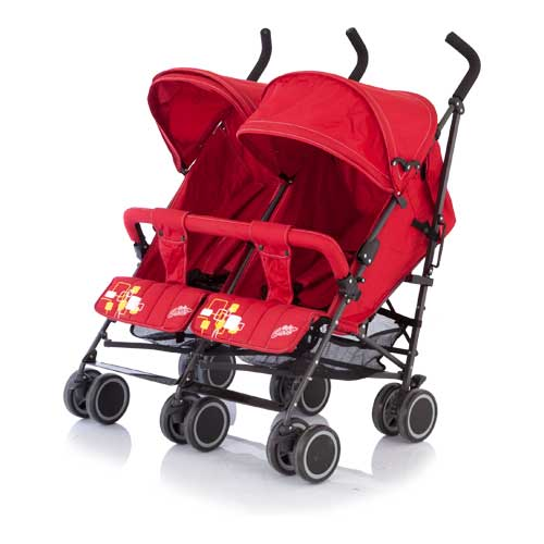 Коляска для двойни City Twin (Baby Care) BT1106T (Red)